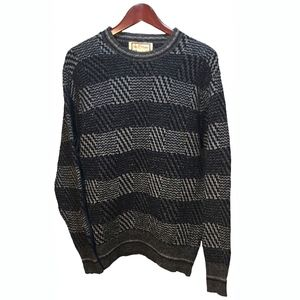 Alan Pain Gray Stripes Wool Sweater Men's Size L